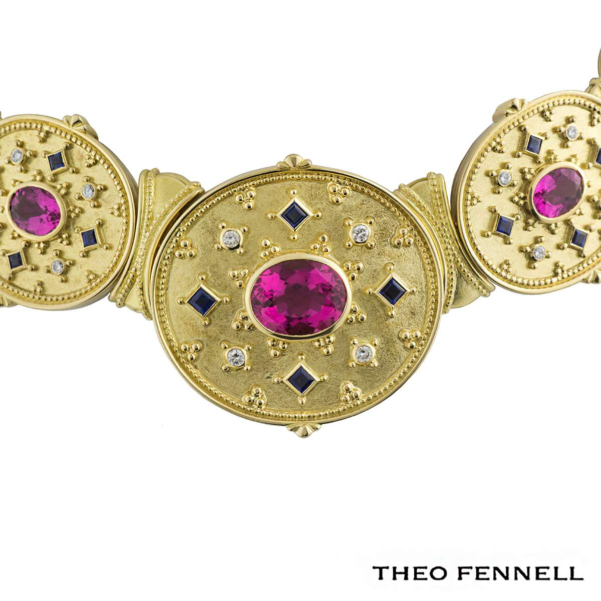Theo Fennell Diamond, Sapphire & Tourmaline Jewellery Suite